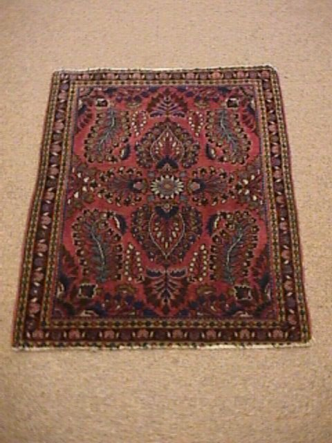 454: SMALL HAND KNOTTED PERSIAN CARPET