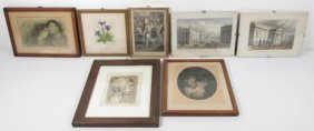 GROUP OF 7 MINIATURE ENGRAVINGS, SIGNED ARTWORK