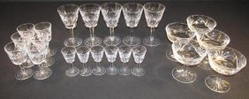 "WATERFORD ""ASHLING"" CUT CRYSTAL STEMWARE: 22 PCS"