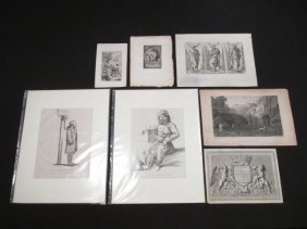 GROUP OF SEVEN  ENGRAVINGS, 18TH & 19TH CENTURY