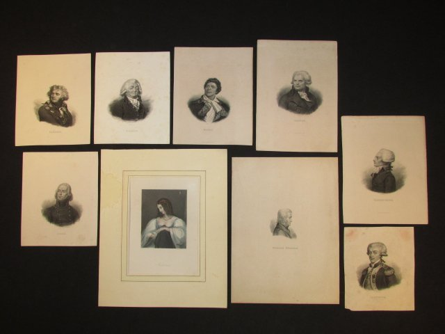 LARGE GROUP OF ANTIQUE ENGRAVED PORTRAITS