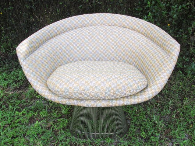 PAIR UPHOLSTERED KNOLL PLATNER SIDE CHAIRS - 2