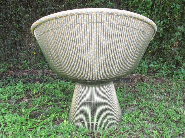 PAIR UPHOLSTERED KNOLL PLATNER SIDE CHAIRS - 5