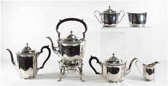 HEAVY STERLING SILVER TEA SET AFTER DANIEL PONTIFEX