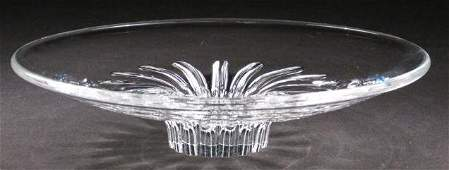 STEUBEN ART GLASS FOOTED SHALLOW BOWL