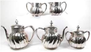 PAIRPOINT SILVERPLATE 5 PIECE TEA/COFFEE SERVICE