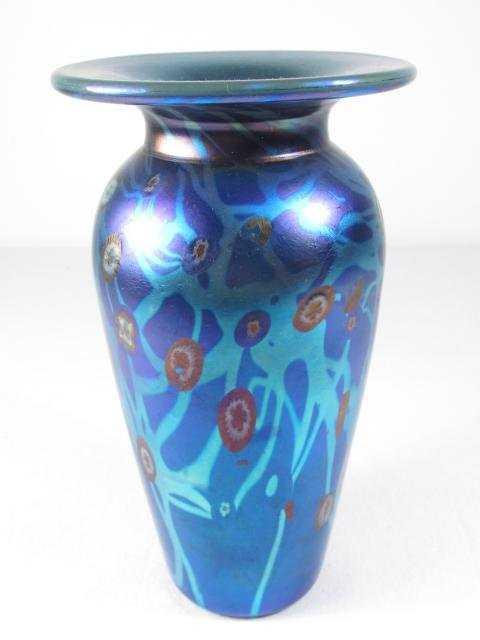 Carl Radke Phoenix Studios Pulled Art Glass Vase