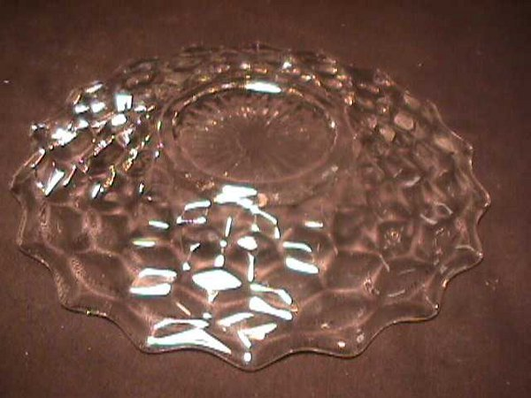 806: 8 ANTIQUE FOSTORIA  GLASS PLATES SMALL - 4