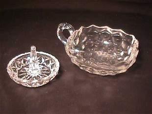 ANTIQUE FOSTORIA GLASS DISH MISC RING HOLDER