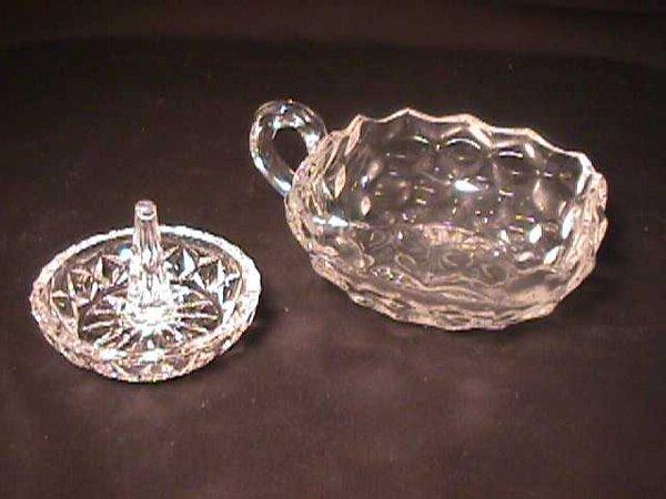 808: ANTIQUE FOSTORIA GLASS DISH MISC RING HOLDER