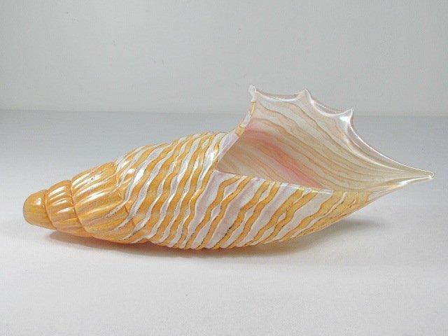 THREE VINTAGE MURANO STYLE ART GLASS SEA SHELLS - 6