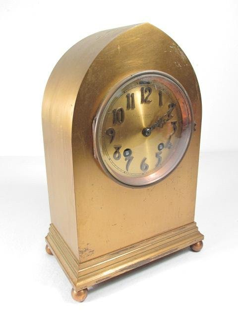 CHELSEA CLOCK CO BRASS BEEHIVE SHELF CLOCK