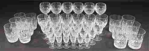 """VINTAGE WATERFORD """"COLLEEN"""" CUT CRYSTAL STEMWARE FOR 6"""