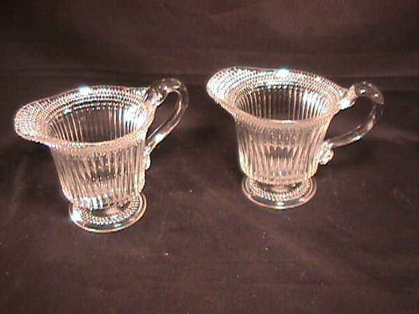 9: EAPG EARLY AMERICAN PATTERN GLASS PRESSED CREAMERS
