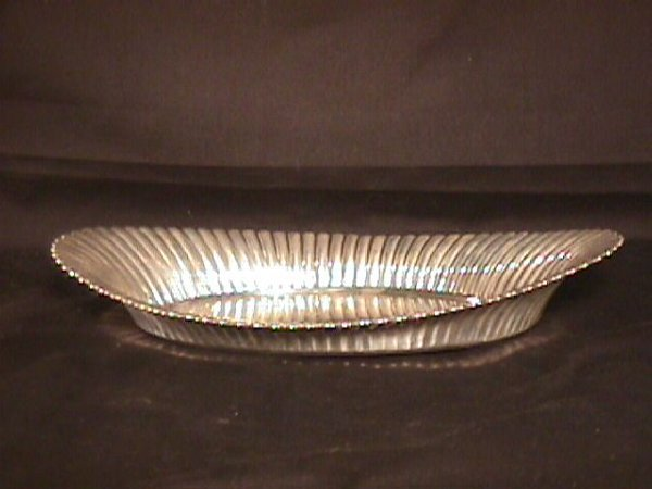 """13: STERLING SILVER OVAL BOWL 10"""""""