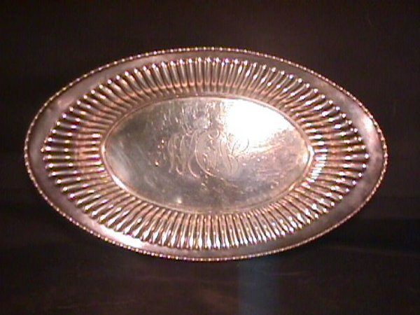 """17: STERLING SILVER OVAL BOWL 10 3/4"""""""