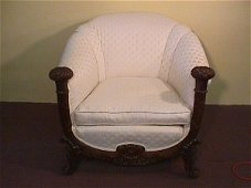 232: UNUSUAL 19TH CENTURY FLORAL CARVED MAHOGANY  CHAIR