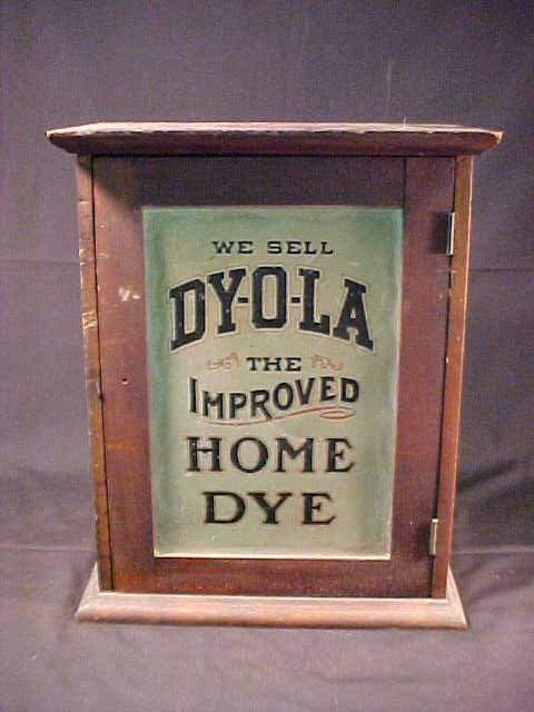 3: ANTIQUE DYOLA ADVERTISING BOX