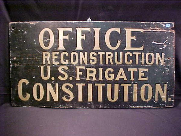 7: USS CONSTITUTION PAINTED WOOD SIGNS