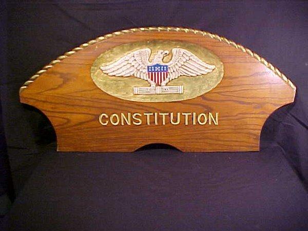8: CONSTITUTION CAPTAIN'S GIG BACK REST