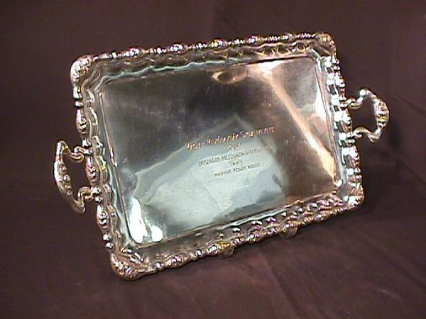 20: AUSTRIAN STERLING SILVER HANDLED TRAY