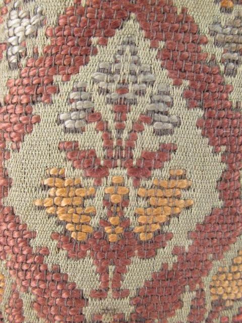 ANTIQUE BELGIUM FOOTSTOOL CARVED WOOD TAPESTRY - 7