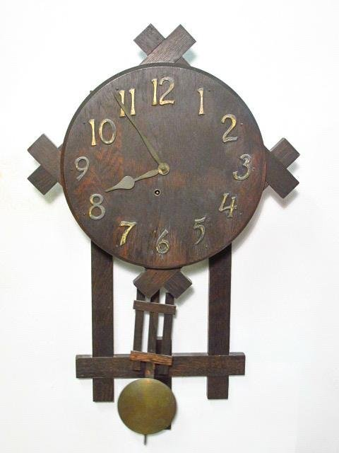 19TH C CARVED WALNUT WALL CLOCK