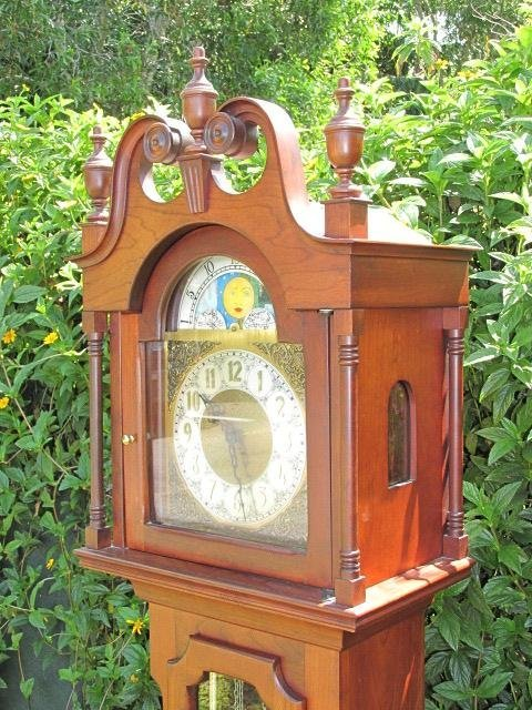 VINTAGE GRANDFATHER CLOCK BY IRA LESHER & SONS - 2