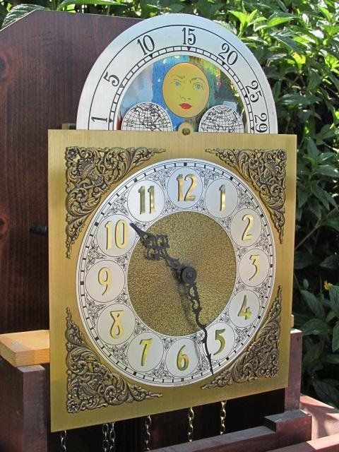 VINTAGE GRANDFATHER CLOCK BY IRA LESHER & SONS - 7