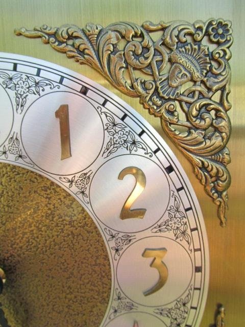 VINTAGE GRANDFATHER CLOCK BY IRA LESHER & SONS - 9