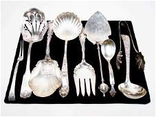 DECORATIVE STERLING SILVER UTENSILS: TIFFANY, JENSEN, 9
