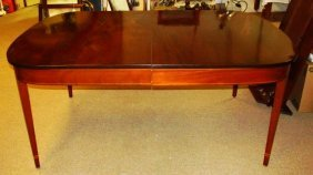 MOSER FEDERAL STYLE MAHOGANY DINING TABLE
