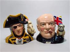 TWO ROYAL DOULTON CHARACTER TOBY JUGS WINSTON