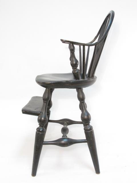 19TH C CHILD'S WINDSOR CURVED BACK HIGH CHAIR - 3
