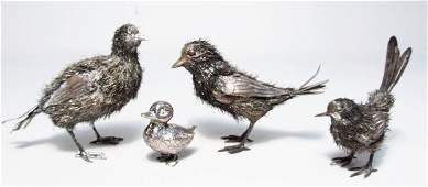 FOUR ITALIAN SILVER BIRDS: BUCCELLATI & ITALO GORI