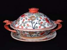 CHINESE PORCELAIN COVERED TUREEN & UNDER TRAY