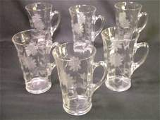 2: ETCHED GLASS IRISH COFFEE TUMBLER SET 6 PCS