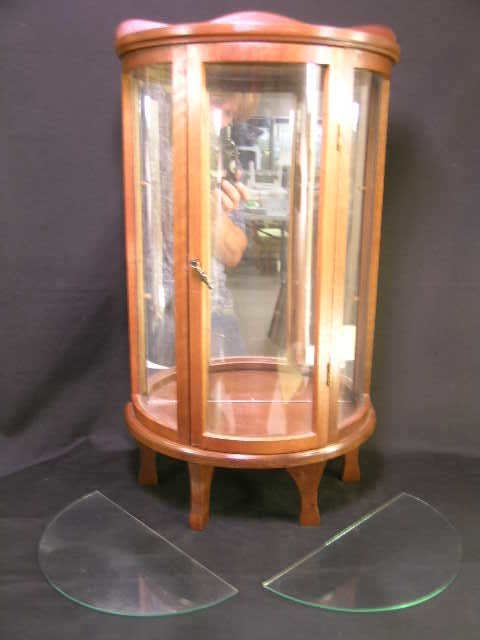 22: MINIATURE DEMILUNE WALL DISPLAY CASE