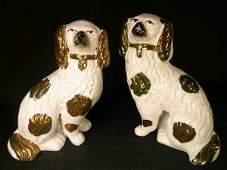 42 PR STAFFORDSHIRE VICTORIAN SPANIEL DOGS