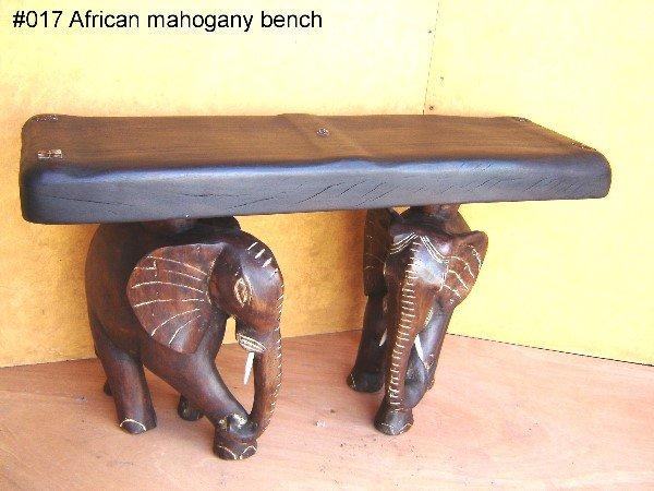 807: DARK AFRICAN MAHOGANY BENCH