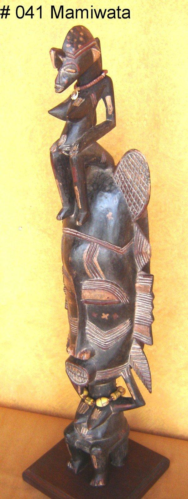 817: MAMIWATA STANDING MASK SENUFO TRIBE IVORY COAST