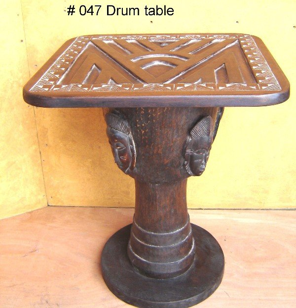820: DRUM TABLE FROM THE BAULE TRIBE, IVORY COAST