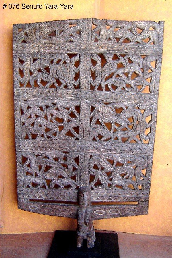 841: AFRICAN YARA-YARA MASK, SENUFO TRIBE, IVORY COAST