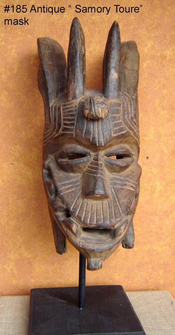 950: AFRICAN SAMORY TOURE MASK MALINKE TRIBE, GUINEA
