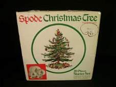 507 SPODE CHRISTMAS TREE 20 PC STARTER SET DINNER WARE