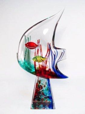 MONUMENTAL PINO SIGNORETTO MURANO  ART GLASS  SCULPTURE