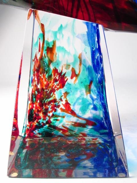 MONUMENTAL PINO SIGNORETTO MURANO  ART GLASS  SCULPTURE - 4