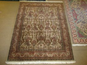 """ORIENTAL HAND KNOTTED WOOL RUG - 8' X 10'4"""""""