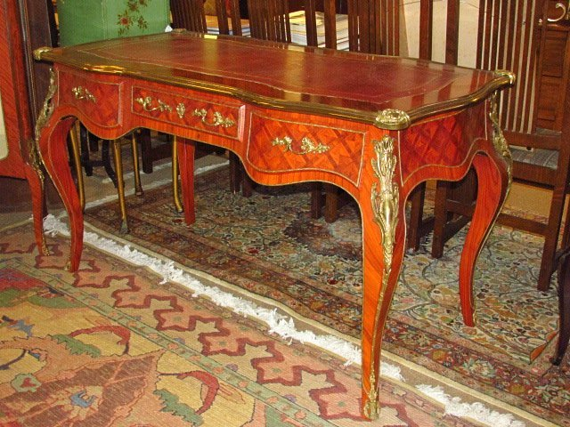 LOUIS XV STYLE ORMOLU MOUNTED ROSEWOOD WRITING DESK