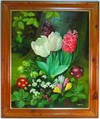 """LARGE OIL ON CANVAS PAINTING SIGNED """"HEYDEN"""""""